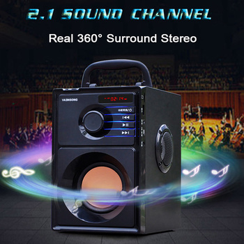 Portable Big Power Bluetooth Speaker Subwoofer Heavy Bass Stereo Wireless Speakers Music Player LCD Display FM Radio TF