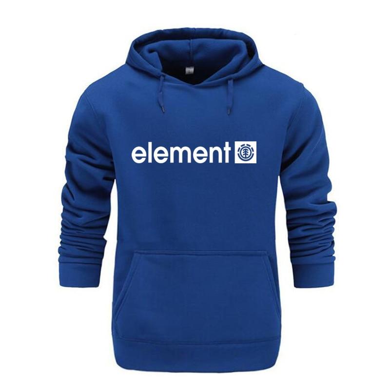 Autumn Winter Brand Mens Hoodies Sweatshirts Men High Quality ELEMENT Letter Printing Long Sleeve Fashion Mens Hoodies 12