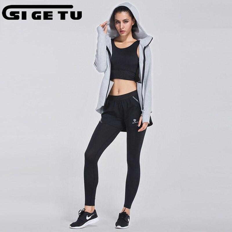 New Winter cotton Sportswear Women 3 Piece Set 2017 Woman Sporting Suits Zipper Hoodies + Pants Sets Female Tracksuits