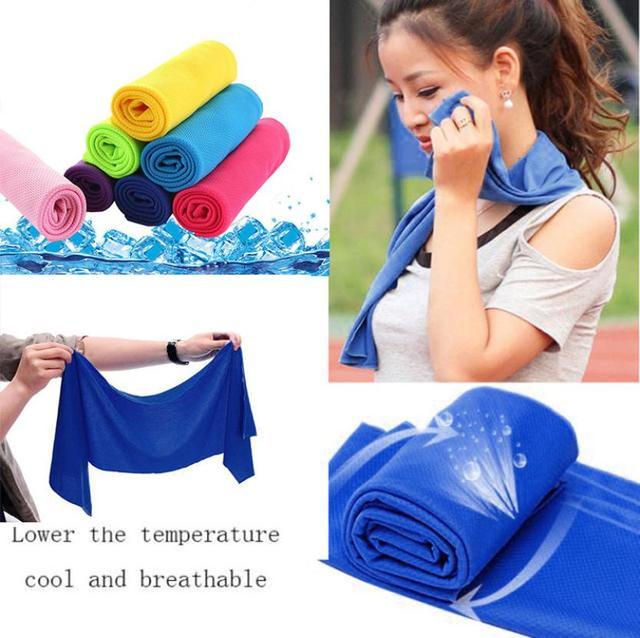 Business Cold Sensation Beach towel Drying Travel Sports Swiming Bath body TowelYoga Mat