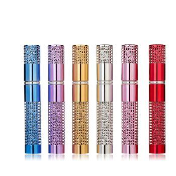 MUB - Fashion 5ml Mini Aluminum Atomizer Refillable Perfume Bottles Scent Pump Spray Bottle Empty Cosmetic Container send Funnel