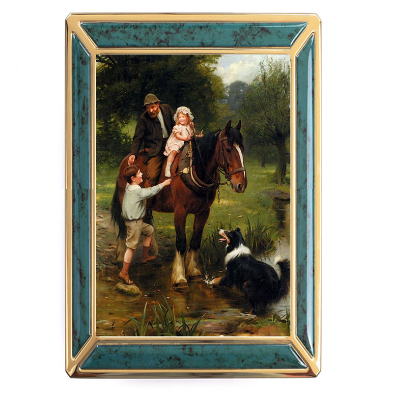 French DMC embroidery crafts embroidery 14CT print quality is not counted cross-stitch set painting <font><b>Horse</b></font> <font><b>and</b></font> <font><b>His</b></font> <font><b>Boy</b></font>