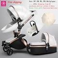 Gratis Verzending Aulon/Liefste Geen Belasting Luxe Kinderwagen 3 in 1 Mode Vervoer Europese Kinderwagen Pak voor Liggen en Seat