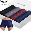 4 teile/los männer Höschen Männlichen Unterhose Mann Pack Shorts Boxer Unterwäsche Slip Homme Calzoncillos Bambus Loch Große Größe 5XL6XL7XL