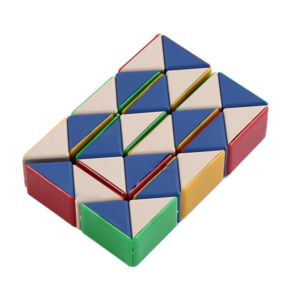 Puzzles & Games Magic Snake Ruler Magic Ruler Puzzle 24 Speed Antistress Cube Twist Snake Folding Educational Toy For Kids Child Magic Cube Choice Materials Magic Cubes