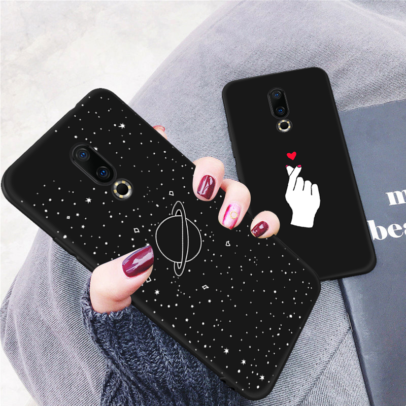 Fashion Pattern Silicone Matte TPU Case For Meizu 16X 16th M6 M5 Note M5C M5S Lovely Space Planet Painted Slim Cover Fundas