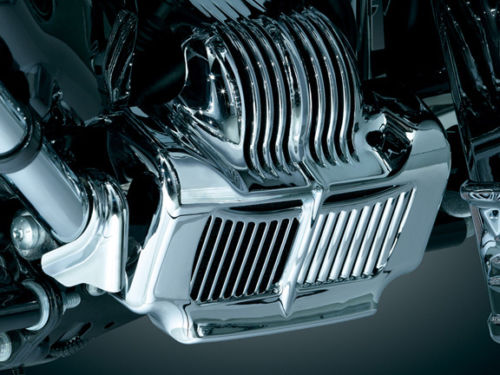 Chrome Stock Oil Cooler Cover for Harley 11 12 13 14 15 16 Touring Road King Parts