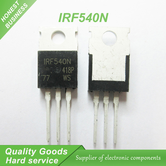US $3 32 |20pcs IRF540N IRF540 IRF540NPBF MOSFET MOSFT 100V 33A 44mOhm  47 3nC TO 220 new original-in Integrated Circuits from Electronic  Components &