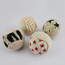 4Pcs/Lot Pet Cat Toy Set 5CM Canvas Ball