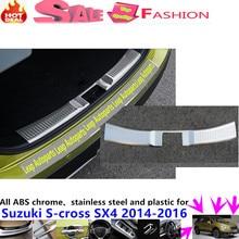 Hot Car Stainless Steel Inner built Rear Bumper trim plate lamp frame threshold pedal 1pcs For Suzuki S-cross SX4 2014 2015 2016