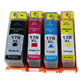 4 Pack 1 set for HP178 for HP178XL with Chip show ink level for HP3070A and for HP5510 B110D C410C C310B