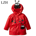 LZH 2017 New Fashion Spring Windproof Hooded Jacket For Boys Girls Raincoat Coat Jacket Kids Dot Outerwear Coat Children Clothes