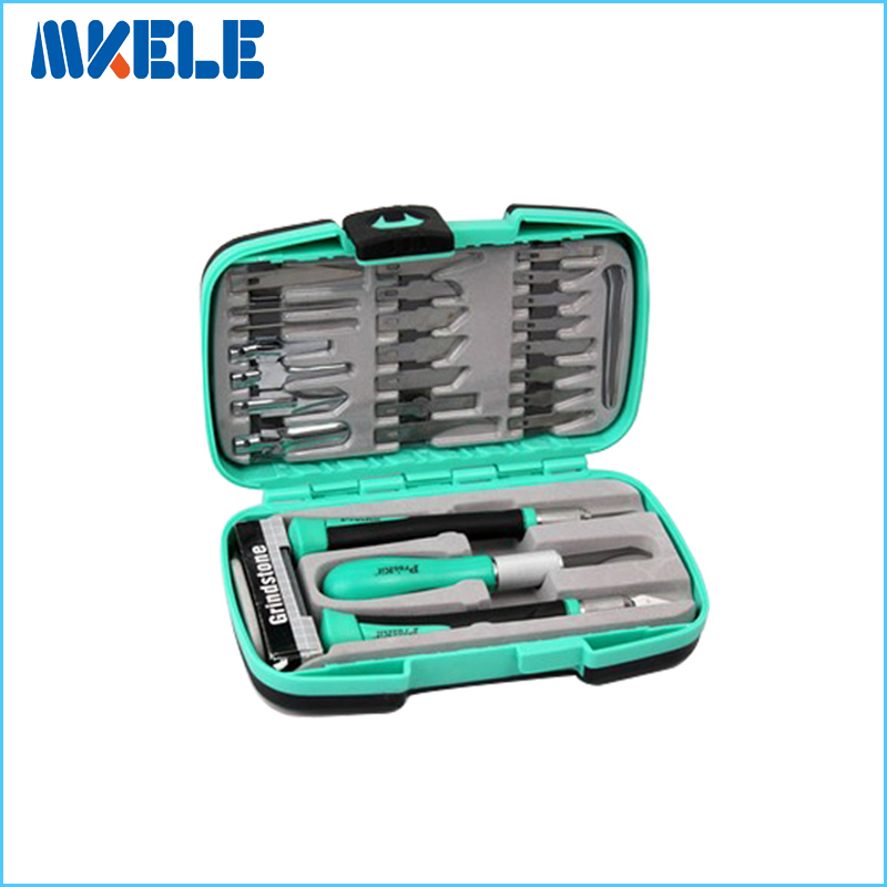PD-395A Carving Tools Steel Knife Detail Chisel Craft Tool 30pcs Set Paper Cutting Knife Woodcut  цены