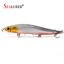 1PCS 14cm 23g Fishing Lure Minnow Hard Bait With 2# Treble Hooks Fishing 3D Eyes Laser Lifelike Wobble Bait