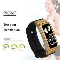 Women Watch Smart Bracelet Wristband 24H Pedometer Heart Rate Monitor OLED Touchpad Waterproof Men Smart Clock