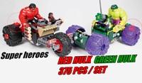 Decool 7125 Marvel Super Heroes Red Hulk With Motor Vs Geen Hulk With Car Building Blocks