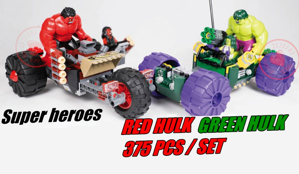 New Super Heroes red hulk vs geen hulk Marvel fit legoings avengers figures model building Blocks Bricks Toys 76078 gift kid boy rome hulk marvel super hero avengers figure green hulk 7cm high the amazing action building block sets model bricks