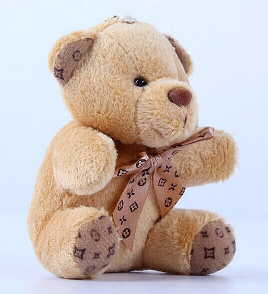 1PCS Hot 10CM Kawaii Small Teddy Bears Plush Toys Stuffed Animals Fluffy Bear Dolls Soft Kids Toys(China)