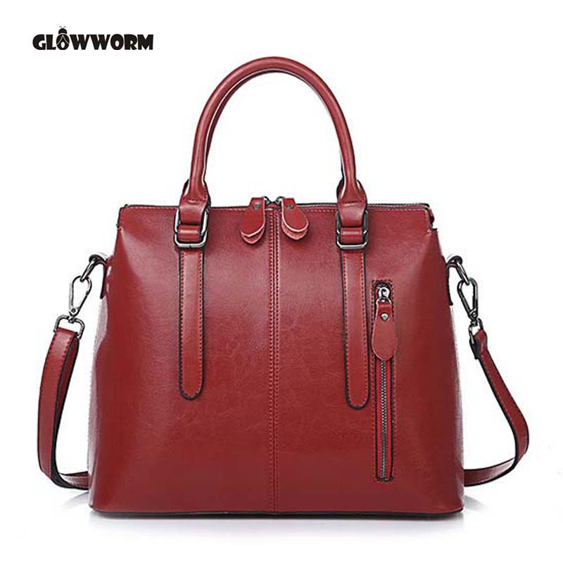 Women Casual Tote Genuine Leather Handbag Bag Fashion Vintage Large Shopping Bag Designer Crossbody Bags Big Shoulder Bag Female vintage luxury women genuine leather handbags ladies retro elegant shoulder messenger bag cow leather handmade womans bags