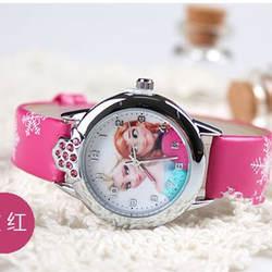 Montres Femmes горячий новый модный бренд мультфильм детей Часы Принцесса Эльза Анна кварцевые часы для Для мальчиков и девочек лучший подарок
