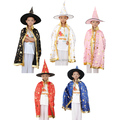 Free shipping kid's Halloween Costumes   Witch Cloak ,hat Fantasia Fancy Carnival maid party cosplay supplies