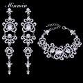 Minmin cristal pulseira brincos conjuntos conjuntos de jóias de noiva borboleta casamento africano pérolas conjunto de jóias para as mulheres eh166 + sl032