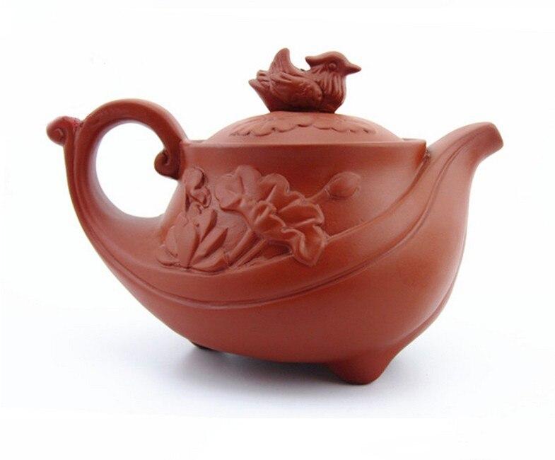 Yixing Purple Sand Teapot Chinese Bird Purple Clay Tea Kettle Pot Handmade Mine Ore ZiSha Teapot