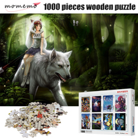 MOMEMO Wolf and Maiden Puzzles 1000 Pieces Toys Wooden Cartoon Puzzle Jigsaw for Adult Puzzle Game Assembling Toy Children Gifts