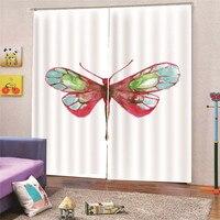 3D Digital Print Dragonfly Children Curtains Kids Boy Girl Bedroom Living Room Blackout Cortinas Custom Made Drape M18