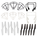 MJX X600 Spare Parts 6pcs Propeller Guard + 6pcs Propeller + 2pcs Landing Gear  RC Plane Parts