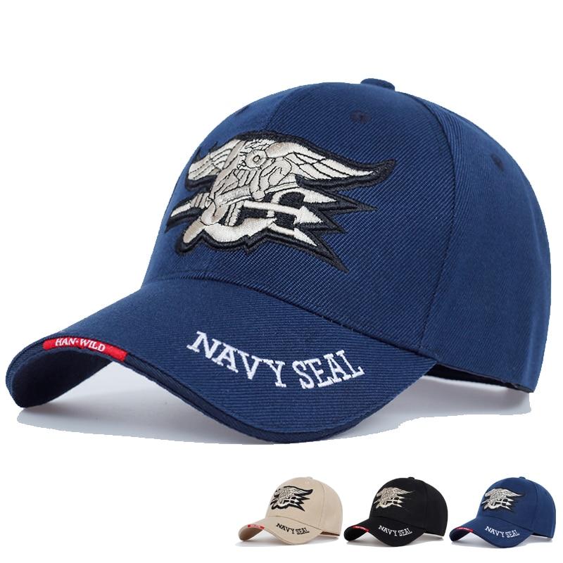High Quality Mens US NAVY Baseball Cap Navy Seals Cap Tactical Army Cap Trucker Gorras Snapback Hat For Adult