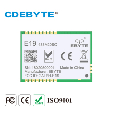 2PCS/Lot CDEBYTE E19-433MS100 FSK SPI 5km 433MHz LoRa SX1278 Low Cost Wireless Transceiver Module 2pcs lot cdebyte e18 ms1 ipx spi smd 2 4ghz cc2530 wireless zigbee smart home automation module