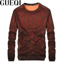 Gueqi brand men fashion knitted sweaters size m 2xl fake two pieces hollow out design man.jpg 250x250