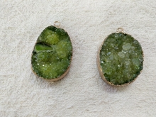 Geode Drusy Jewelry Pendant,Green Quartz Crystal Cluster Pendant,Wholesale Fashion Jewelry Necklace pendant,5pcs/lot