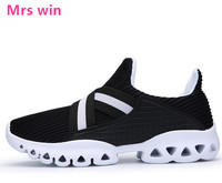 Men Women Outdoor Running Shoes Breathable Mesh Mesh Sneakers Run Wear Resistant Anti Skid Light