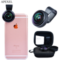 Apexel lente Óptica Pro 8mm 238 graus full frame Ultra fisheye lente Super wide angle lens para iPhone Android telefone Nodark círculo