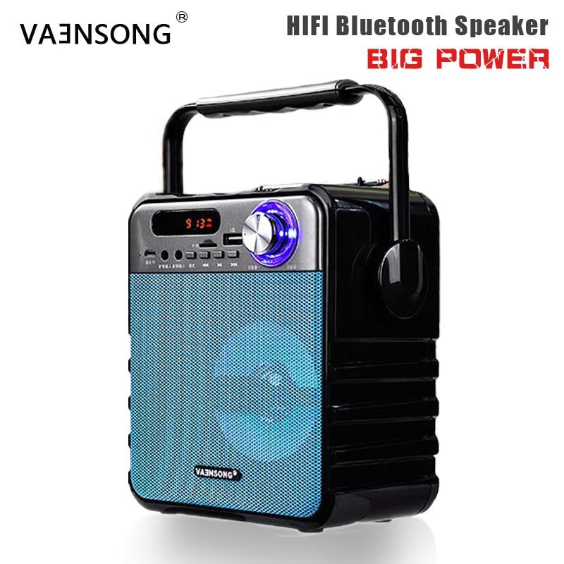 TOP Portable Wireless Bluetooth Speaker Stereo Subwoofer Heavy Bass Speakers Column Soundbox Support FM Radio TF AUX USB
