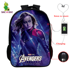 Avengers 16 Cal podróży torba szkolna dziewczyny chłopcy plecaki dzieci Plecak uczeń Plecak dzieci Bagpack Plecak Szkolny prezent 1