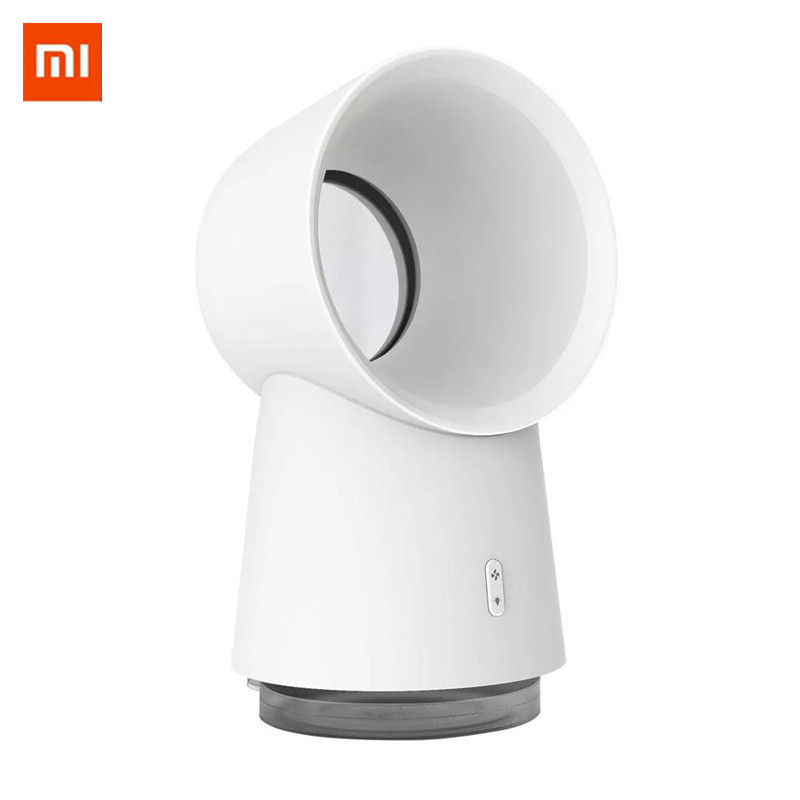 Newest Xiaomi Youpin HL 3 In 1 Mini Cooling Fan Bladeless Desktop Fan Mist Humidifier With LED Light White