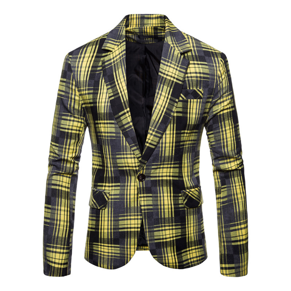 2019 Neue Ankunft Marke Kleidung Jacke Herbst Anzug Jacke Plaid Männer Blazer Mode Schlanke Männliche Anzüge Beiläufige Blazer Männer Größe M-3xl
