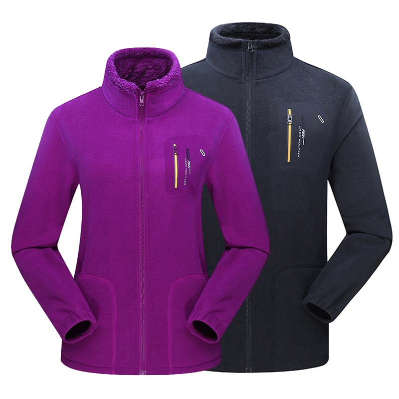 Male Female Outdoor Clothing Windproof Lining Coral fleece Keep Warm Windbreaker Men&Women Outdoor Sports Camping Hiking Jacket