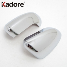 ABS Chromed Side Door Rearview Mirror Cover Trims Car Accessories 2Pcs Fit For Nissan Qashqai 2007 2008 2009 2010 2011 2012 2013