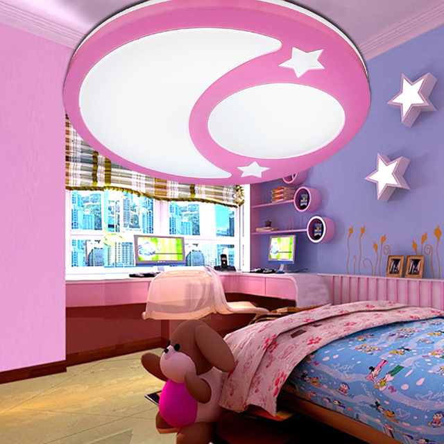 Children lamp Creative LED ceiling lights remote control dimmer ...