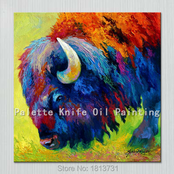 Oil painting On Canvas Wall Pictures Paintings For Living Room Wall Art Canvas Pop art yak modern abstract hand painted