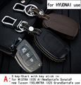 Genuine Leather CAR KEY CASE For HYUNDAI MISTRA IX35 AllNEWSANTAFE SONATA9 IX25 Use Automobile Special-purpose CAR KEY HOLDER
