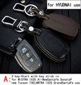 Genuine Leather CAR KEY CASE Para HYUNDAI MISTRA AllNEWSANTAFE SONATA9 IX35 IX25 Uso Del Automóvil de propósito Especial DEL COCHE TITULAR de LA CLAVE