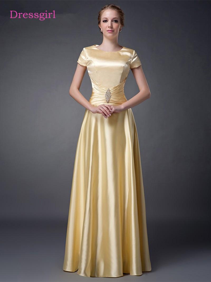 Gold 2019 Mother Of The Bride Dresses A-line Cap Sleeves Evening Dresses Plus Size Long Elegant Groom Mother Dresses Wedding