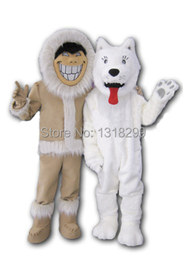 mascot Eskimos Sled Snow Dog mascot costume fancy dress custom fancy costume cosplay theme mascotte carnival costume kits