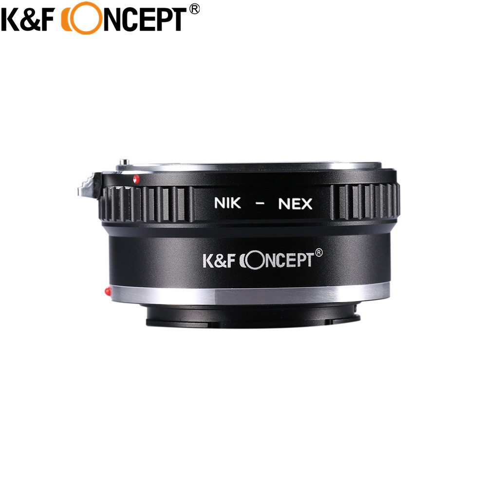 K&F CONCEPT for AI-NEX Camera Lens Adapter Ring for Nikon AI Lens to for Sony NEX E Mount Camera NEX-3 NEX-5 NEX-6 NEX-7 NEX-5n