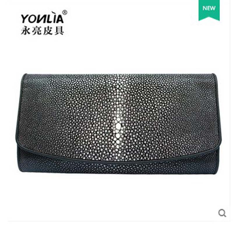 yongliang The New Whole ground beads Long wallet pearl fish skin wallet  leather lady wallet-in Clutches from Luggage   Bags on Aliexpress.com  4d2a3c8475ee